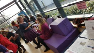 SoftBirth Birthing Couch at #SaTHFMU Conference, Shrewsbury, 2017