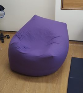 Birthing bean bag just after use! Wrexham Maelor Hospital